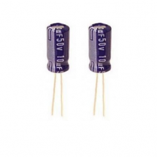 10µF 50V Aluminum Electrolytic Capacitor (Pack of 2)