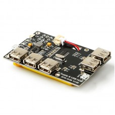 5-Port USB 2.0 Hub Power Supply Module for Raspberry Pi