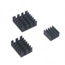 Heat Sink Kit for Raspberry Pi 4 (Black)