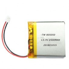 Lithium Ion Polymer (LiPo) Battery (3.7V 2500mAh)