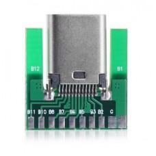 USB Type C Socket (SMT Inline Breakout Board)