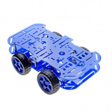 4WD Smart Robot Car Chassis Kit (Blue)