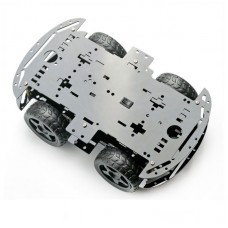 4WD Smart Robot Car Chassis Kit (Black)