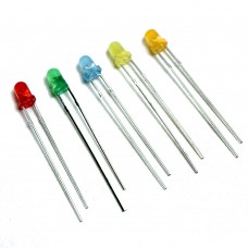 Basic 3mm LED Mixed Color (Pack of 5)