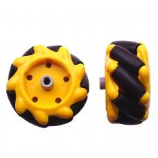 Mecanum Wheel Pair 48mm Diameter (TT Motor or Cross Axle)